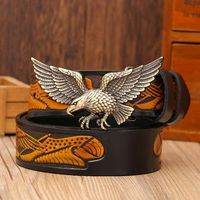 2018 New Arrival High Quality Leather Belts For Women Plate Buckle Punk Eagle Model Fashion Belt