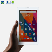 On sale iRULU X6 Tablet 3G Phablet Phone Call SIM Card 1024×600 IPS 7 inch Android 7.0 Quad Core 1+16GB Dual Cams With RUSSIAN KEYBOARD