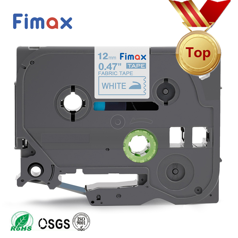 TZe-FA3 TZe-FA231 Compatible For Brother P Touch Fabric Iron On Label Tape TZeFA3 TZ-FA3 12mm For Brother P-touch Label Printers