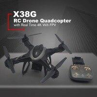 X38G Smart Selfie gps RC Дрон Квадрокоптер с реальным временем 4 к Wifi FPV широкоугольная камера парящий один ключ возврат Безголовый режим