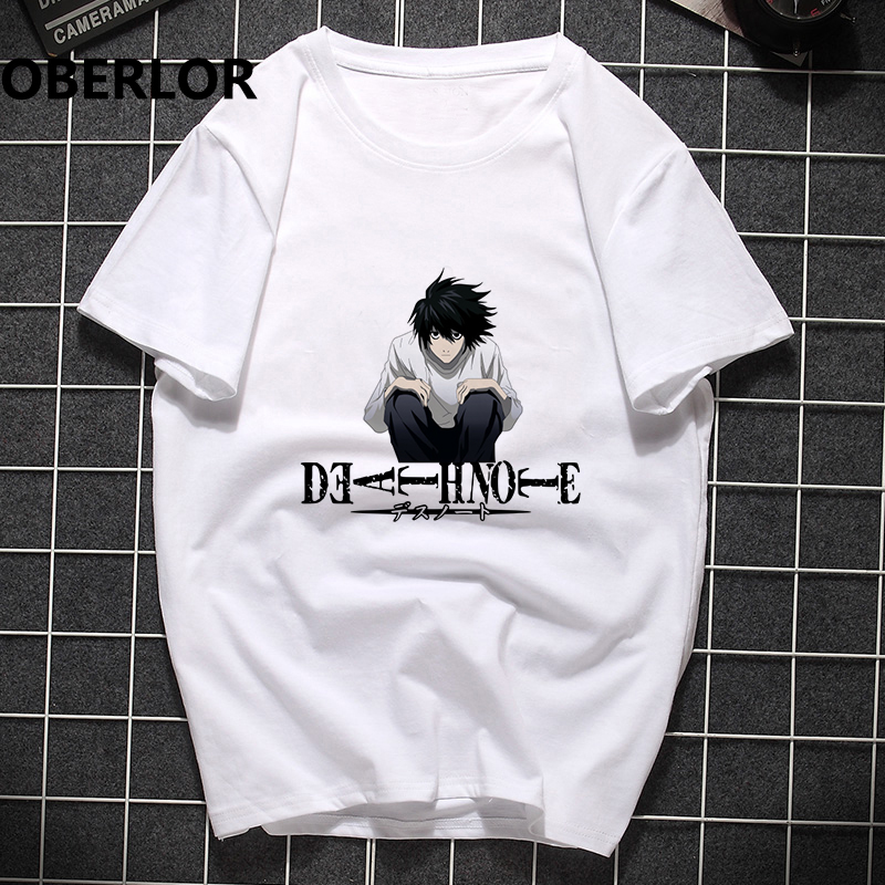 Death Note Summer Tshirt Stranger Things Off White Punk T Shirt Men Hip Hop Harajuku Pride Anime Unisex Tops Casual Streetwear