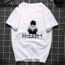 Death Note Zomer Tshirt Stranger Dingen Off White Punk T-shirt Mannen Hip Hop Harajuku Pride Anime Unisex Tops Casual streetwear(China)
