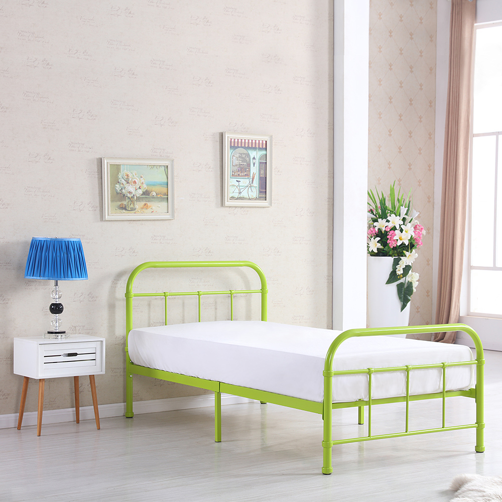 metal bed frame without box spring