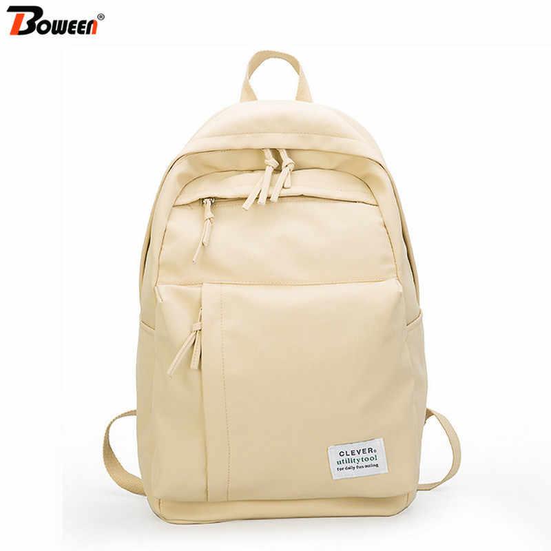 Большие Школьные сумки для девочек-подростков, школьные сумки, рюкзак для женщин, водонепроницаемый нейлоновый студенческий рюкзак для книг, Подростковый школьный рюкзак большого цвета хаки 2019