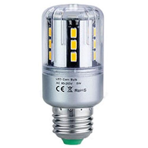 <font><b>LED</b></font> lamp Corn Bulb 85-265V E27 Aluminum <font><b>5736</b></font> <font><b>LED</b></font> Spot light, 5W Warm White