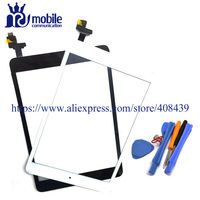 Test Mini 1 2 Için Dokunmatik Panel iPad Mini 1 Mini 2 dokunmatik Ekran Digitizer Sensörü Cam araçları Ile Ödünç IC Bağlayıcı Düğme Ana