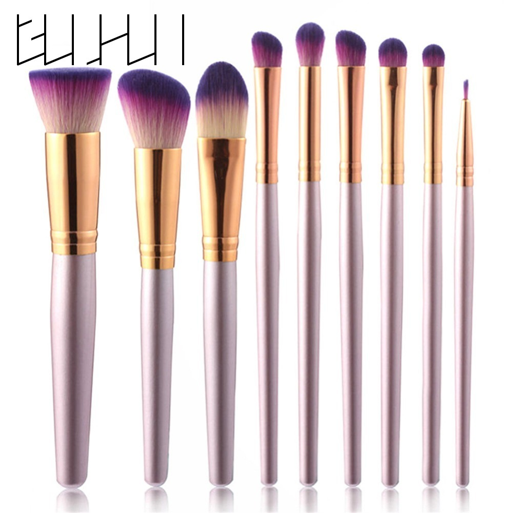 9PCS Makeup Brush Set Professional Make Up Beauty Blush Foundation Eyeshaow Eyebrow Contour Powder Cosmetics Brushes Makeup Tool 12pcs makeup brushes professional make up brush set pincel maquiagem for beauty blush contour foundation cosmetics