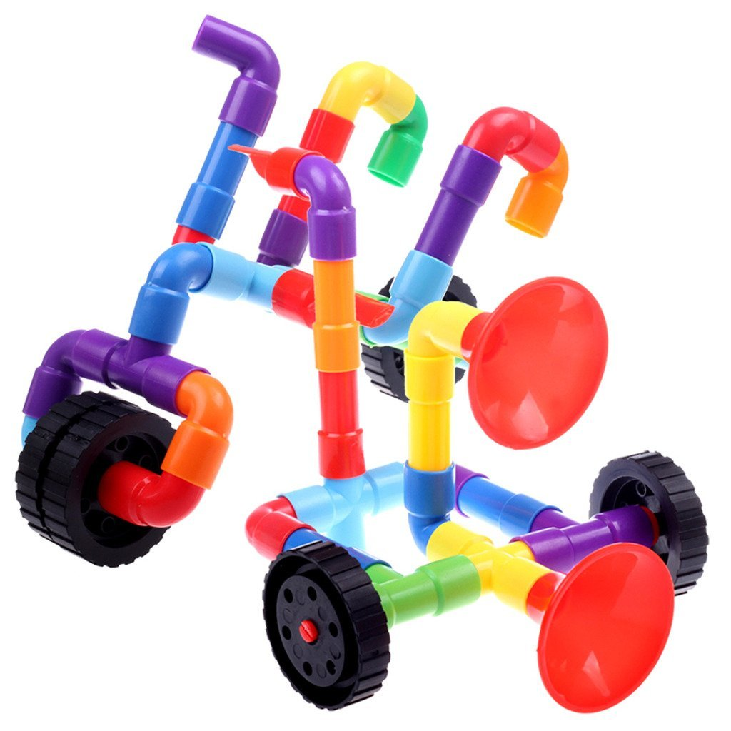JingQ Pipeline Horn Construction Assembling Toy DIY Puzzle Educational Jigsaw Gift for Baby Children Kids S13473 3d puzzle wooden toy jigsaw for children