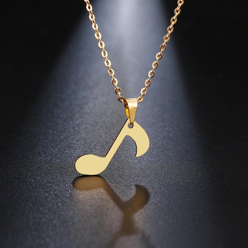 Ожерелье DOTIFI из нержавеющей стали для женщин, Золотое и серебряное ожерелье с изящной музыкальной нотой, ожерелье для помолвки, ювелирных изделий
