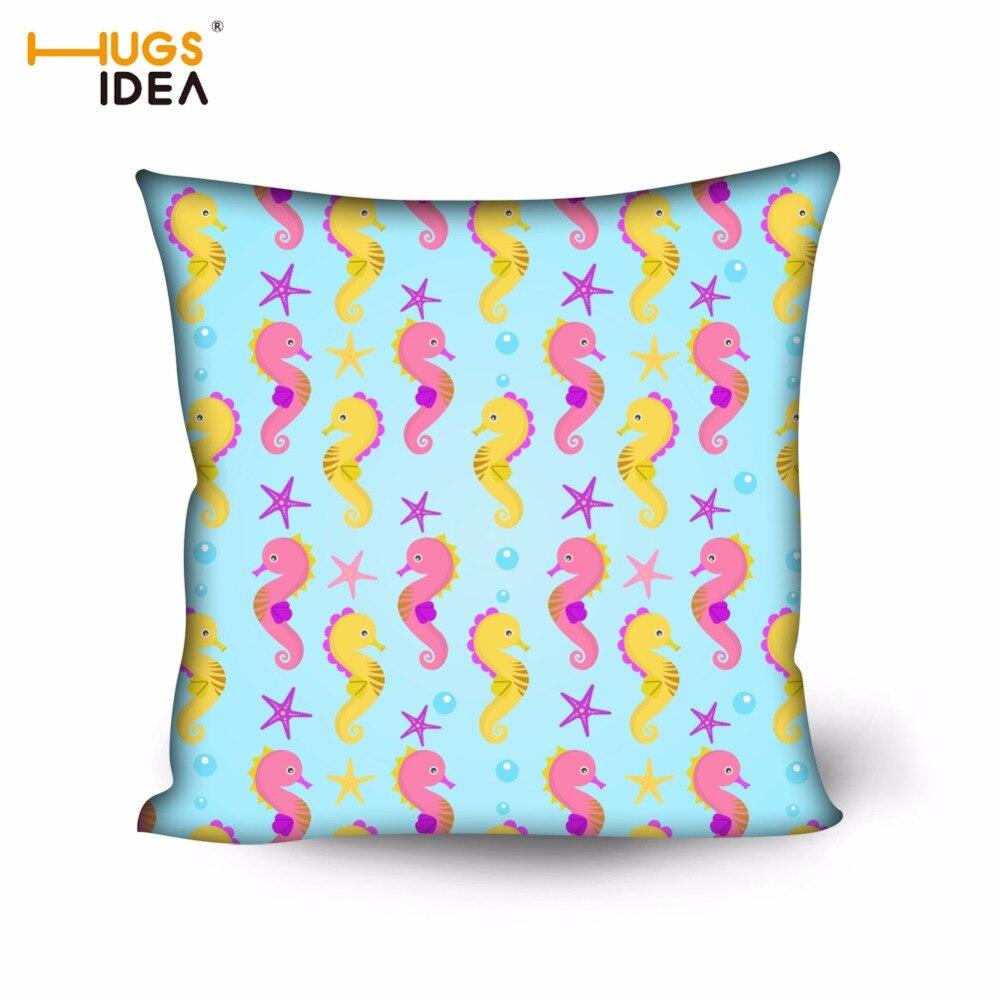 HUGSIDEA 50x50 см квадратный Чехлы для подушек милый мультфильм печати для взрослых стул ...