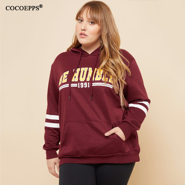 50b572c79cb COCOEPPS Plus Size Women Clothing Autumn Hooded 5XL 6XL Big Size Stretchy  Warm Winter Clothes Long