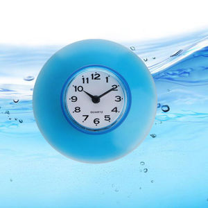 Creative Design Magical Color Waterproof Kitchen Bathroom Bath Shower Clock Suction Cup Sucker Wall Decoration Cool Wall Clocks(China)