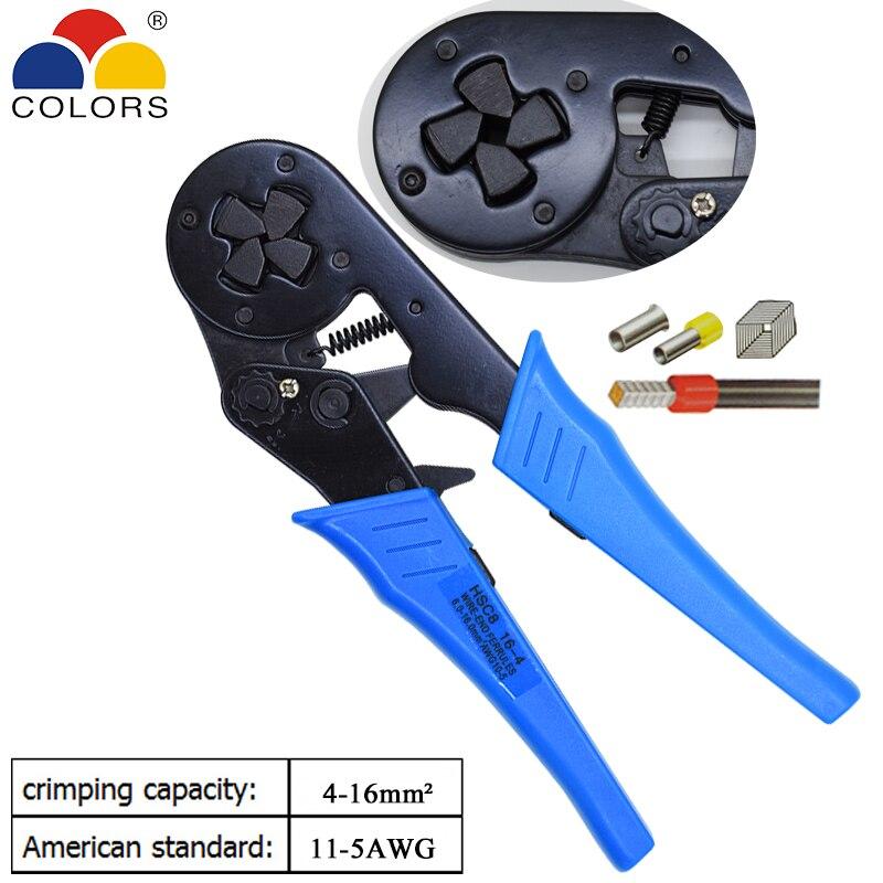 Handwerkzeuge Gewissenhaft Farben Hsc8 16-4 Crimpen Zangen Für Rohr Typ Nadel Typ Terminal Crimp Selbst-anpassung Kapazität 4-16mm2 11-5awg Werkzeug