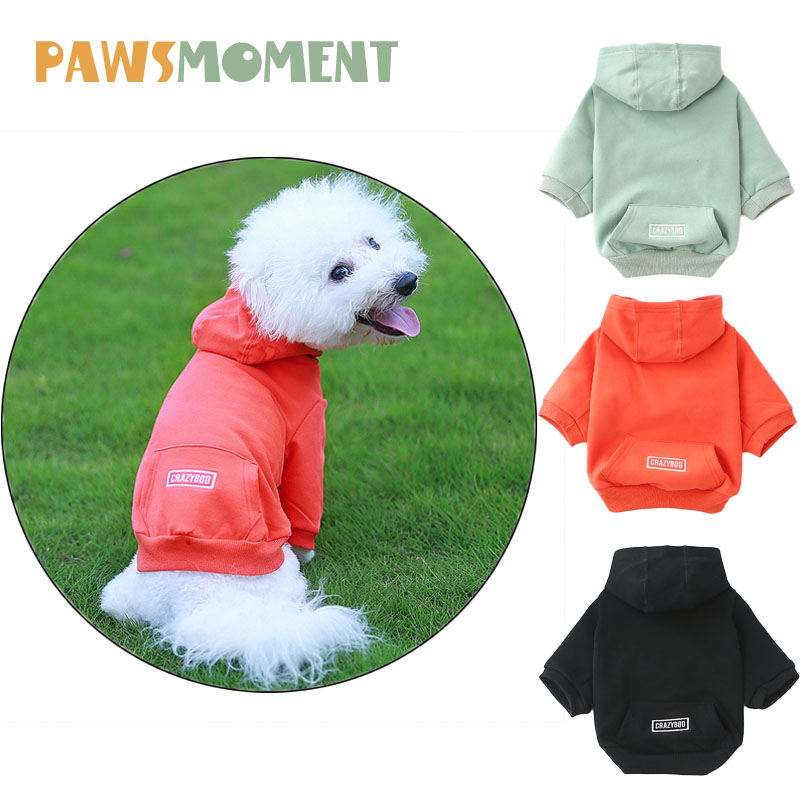 Spring Summer Puppy Cotton Hooded Baseball Clothes for Small Dogs Solid Pet Clothing Chihuahua French Bulldog Sweater Pug Outfit