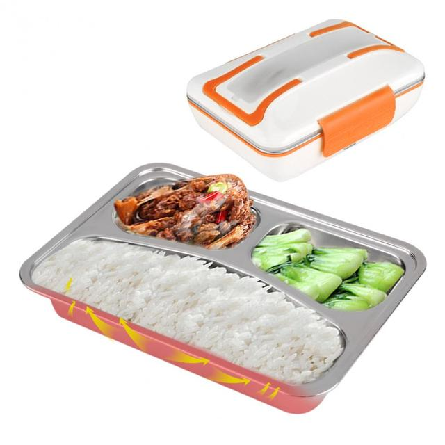 electric food heater lunch box 304 stainless steel inner pot food warmer portable lunch box rice