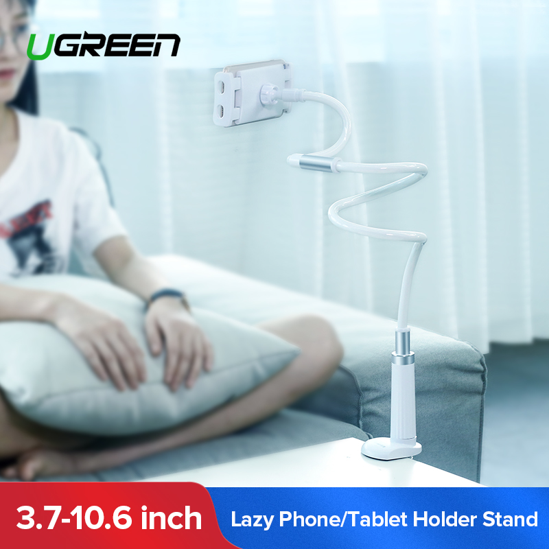 все цены на Ugreen Phone Holder Stand for iPhone 8X 360 Rotation Long Arm Mobile Phone Holder for iPad Tablets 3.7-10.6 inches Lazy Holders