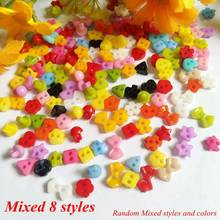 200pcs/lot About 6mm Mixed Mini Plastic Sewing Handmade Buttons for Scrapbooking craft Fashion Decorative buttons accessories