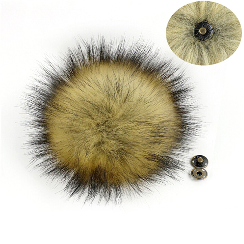 10cm Faux Raccoon Fake Fur Hair Ball Huge Ball Fluffy Pompom Hat Bag Shoses Accessory