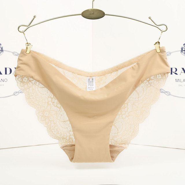 Sexy Lace Transparent Low-Rise Cotton Briefs Intimates