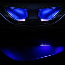 JURUS, 4 шт., автомобильный интерьерный светильник, светодиодный дверной светильник, автомобильная внутренняя чаша, атмосферная лампа, подлокотник, корыто для хранения, окружающий светильник, автомобильный стиль