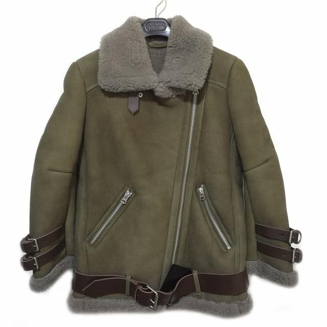 2017 Best Quality Genuine Real Shearling Coat Natural Sheepskin ...