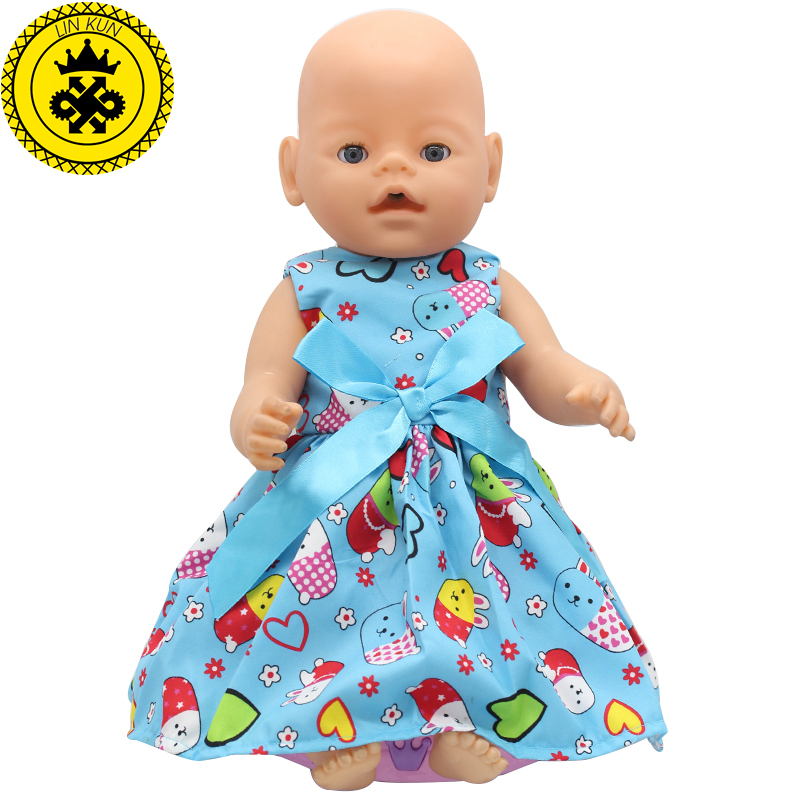 Baby Born Doll Clothes Fit 43cm Baby Born Doll 15 Colors Cartoon
