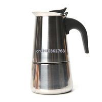 New Stainless Steel Mocha Pot Espresso Coffee Maker Stove Tool 450ML