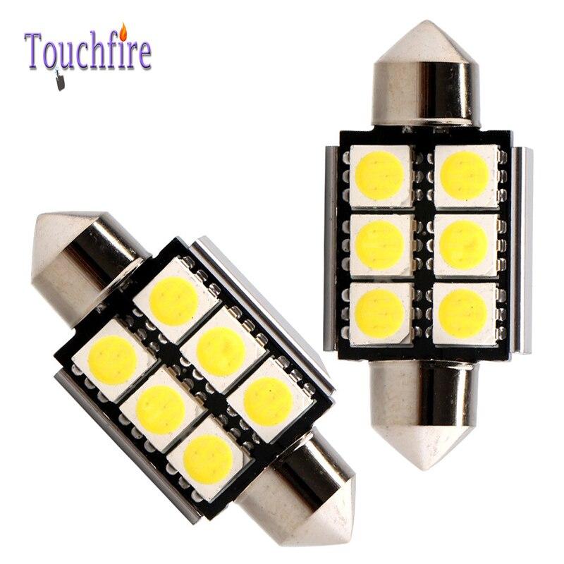 10pcs/lot LED 39mm Bulb 6SMD Auto Wedge Car lights 12v Width Interior Signal brake Lighting Canbus Reading light Car Styling