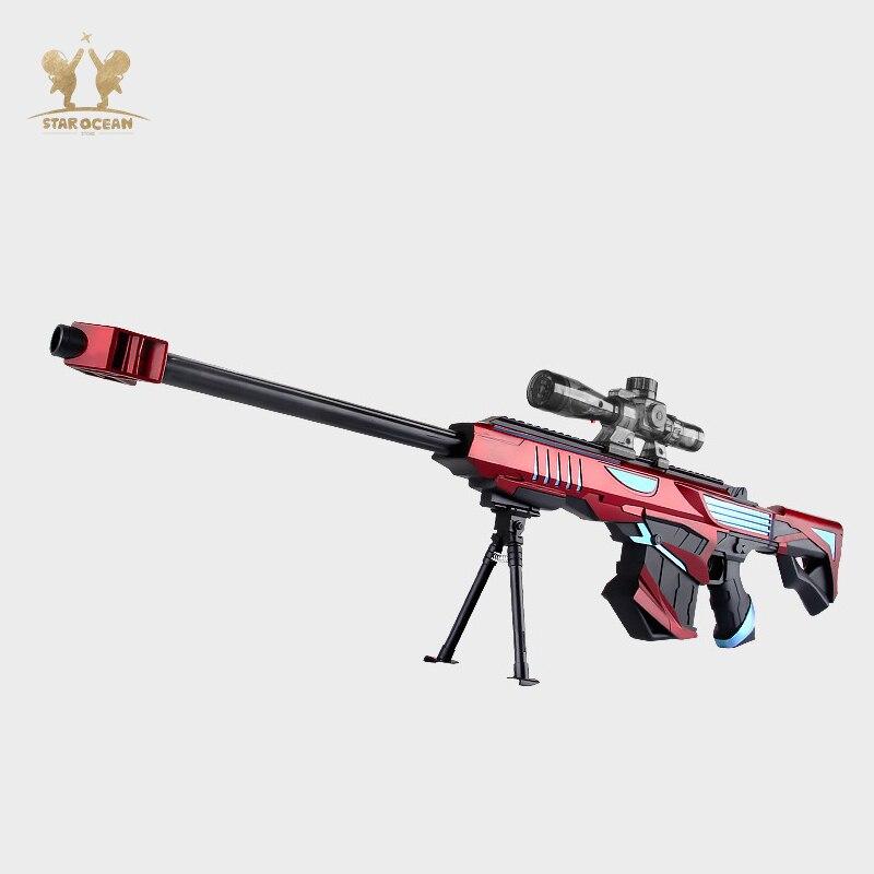 Water/Soft Air Bullet Gun Toy Sniper Rifle Pistol Gun Toy for Children Boys Outdoor Shooting Fun for Round Darts