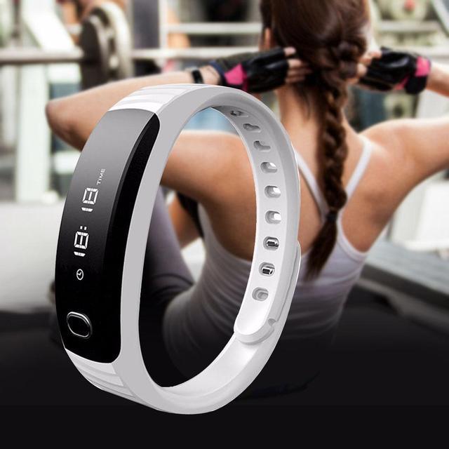 H8 Esporte profissional Do Bluetooth Pulseira Inteligente Pulseira Banda Pedômetro Passo Contagem de Calorias Monitor de Sono Inteligente branco A273