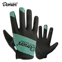 DONEN Cycling Gloves Touch Screen GEL Bike Gloves Sport Shockproof MTB Road Full Finger Bicycle Glove For Men Woman