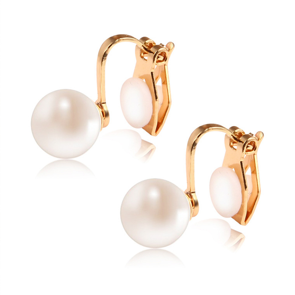 Ongoingmelody Pearl Clip Earrings Without Piercing For Women Cute Ear Cuff  Bridal Wedding Party Jewelry Pendientes