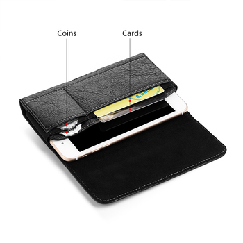 Universal Pouch Wallet Case 6.3/5.5/4.7 inch Waist Bag Magnetic Horizontal Phone Cover for iPhone X 8 7 Phone Belt Holster Clip 4