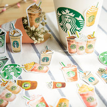 1Pcs/Sell Coffee Girl Stationery Stickers Pack Post Planner Scrapbooking Diary Sticker School Supplies Memo Pad TZ01(China)