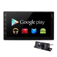 Quad-core 2 דין אנדרואיד 4.4 אוניברסלי לרכב רדיו DVD זוגי רכב סטריאו מחשב רכב 2din דאש ניווט GPS נגן וידאו משלוח המפה