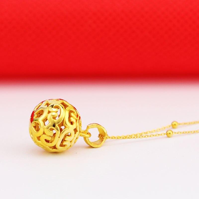 Offre spéciale 24K pendentif en or jaune 3D 999 pendentif en or jaune - 2