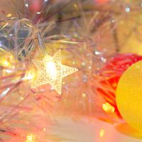 20Led Fairy Frosted Ball With Fringe Tinsel AC 220V String Lights 3M LED Decoration For Christmas