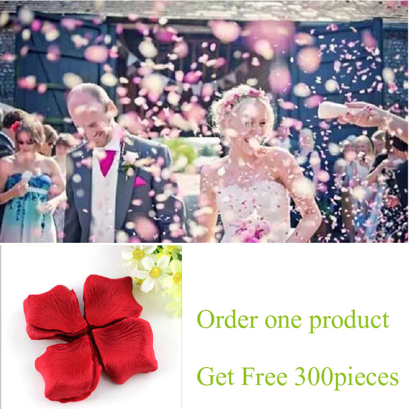 3000pcs / Lot 5*5cm Silk Rose Petals  Wedding Decoration Romantic Artificial Rose Petals Wedding Flower Rose Flower Accessories