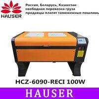 Free Shipping HCZ 9060 RECI100w co2 laser CNC RUIDA 6090 laser engraving cutter machine laser marking machine laser engraver diy
