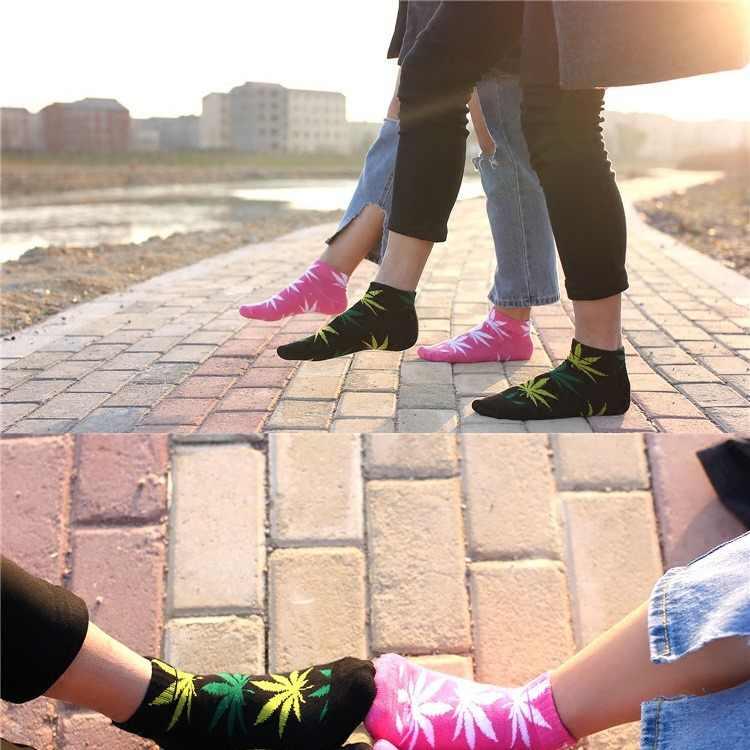 2019 חדש נשי כותנה עלים הדפסת סקייטבורד רחוב אופנה מייפל גרבי היפ הופ סגנון נשים גרביים קצרים