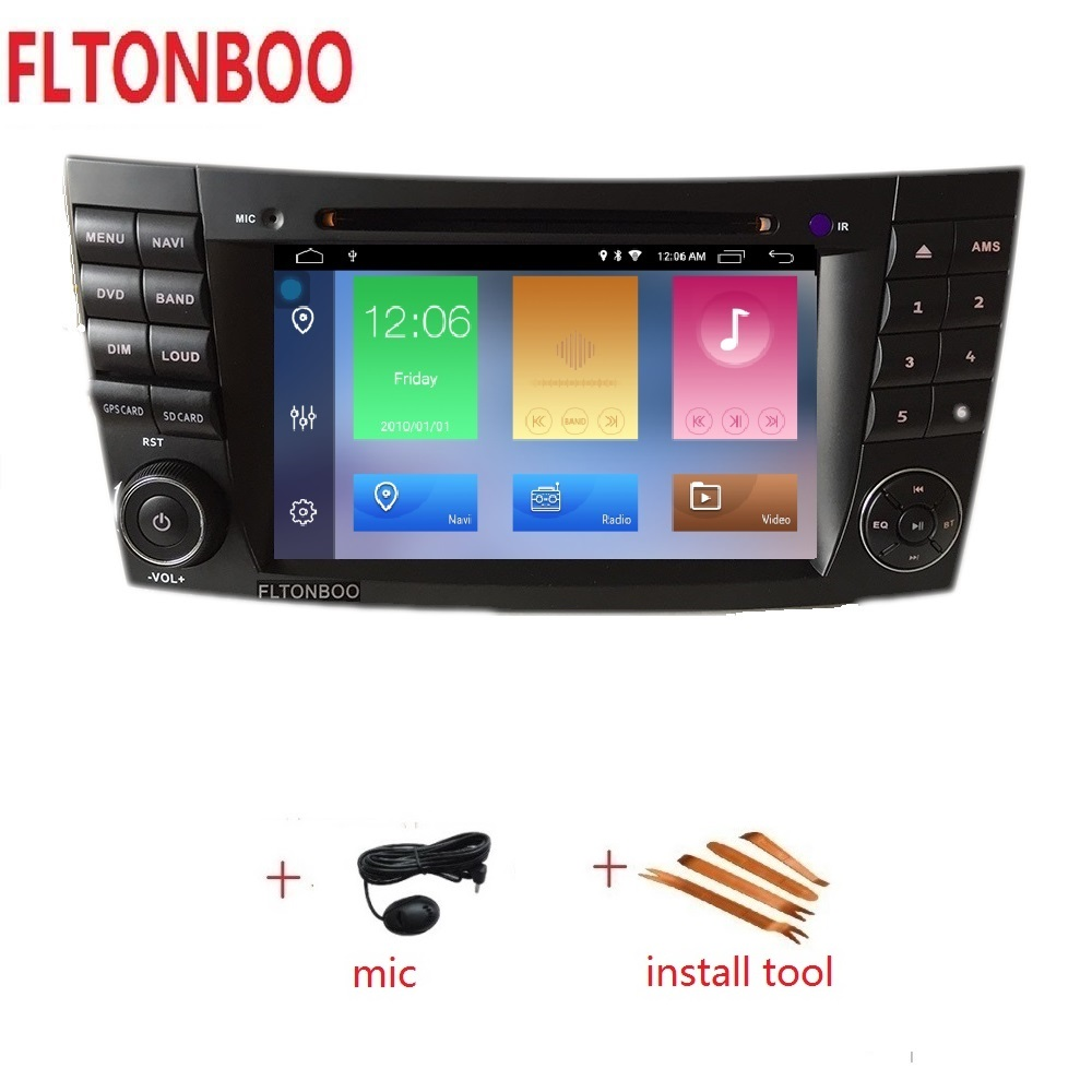 7 Android 9 2 din Car GPS Navigation radio dvd player for Mercedes BENZ CLS CLASS