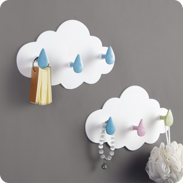 Cartoon Strong Adhesive Hooks Wall Decoration Hook For Arrangement Bedroom Kitchen Tools Keep House Clean Bathroom Accessories