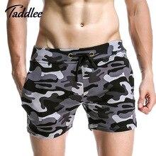 Taddlee marca homens activewear dos homens dos pugilistas trunks gay moletom basculador casuais camuflagem calções de praia homem bottoms curtas moda(China (Mainland))