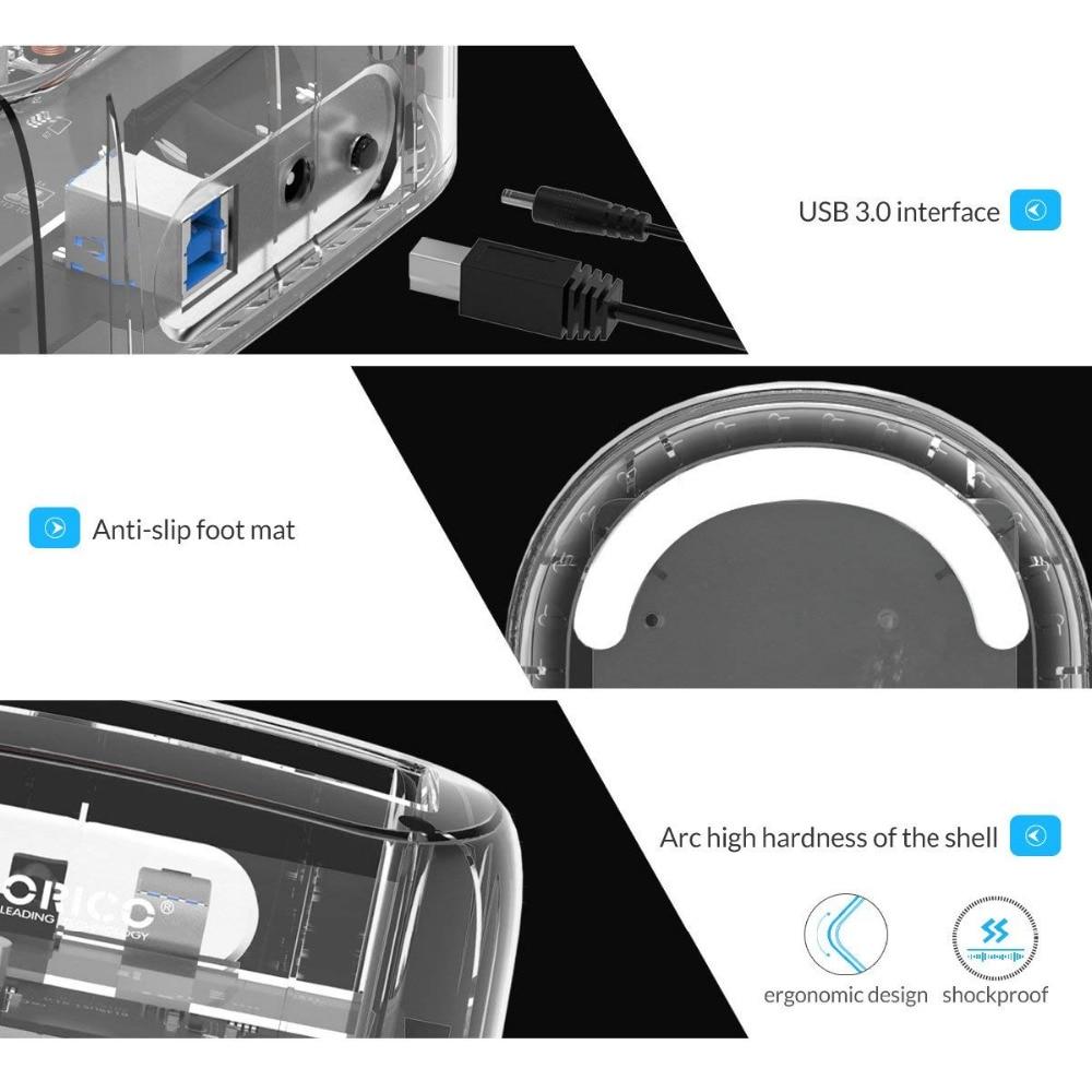 ՕՐԻԿՈ թափանցիկ 2.5 / 3.5 դյույմ սաթսա USB - Արտաքին պահեստավորման սարքեր - Լուսանկար 4