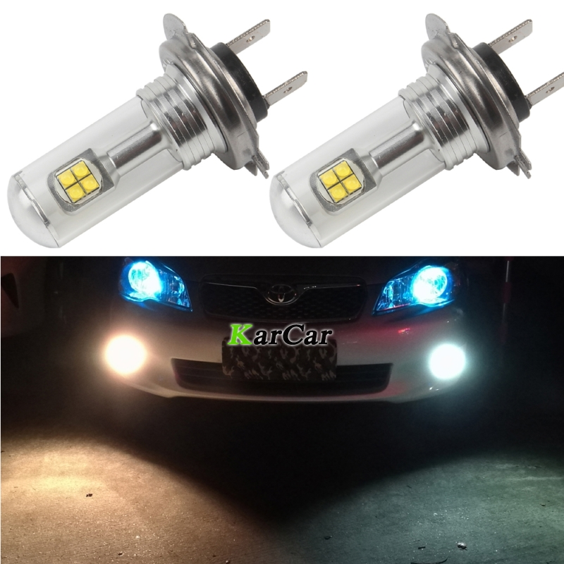 2x Super Parlaq 40W LED H7 Canbus XBD 572LM Gündəlik Avtomatik İşıq 12V 24V Dumanlı Lampalar Yüksək keyfiyyətli H7 LED Avtomobil Sürücü Lampa