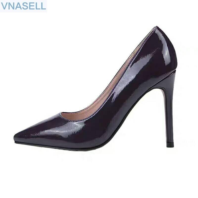 2019 봄 새로운 스타일 그물 빨간 포인트 스틸 레토 ol 직업 derma 조커 패션 얕은 입 여성 단화-에서여성용 펌프부터 신발 의  그룹 1