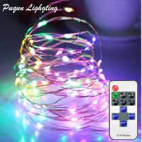 Control inalámbrico LED Cadena de luz LED de Navidad para exteriores Garland boda fiesta LED decorativo ornamento de luces de Navidad