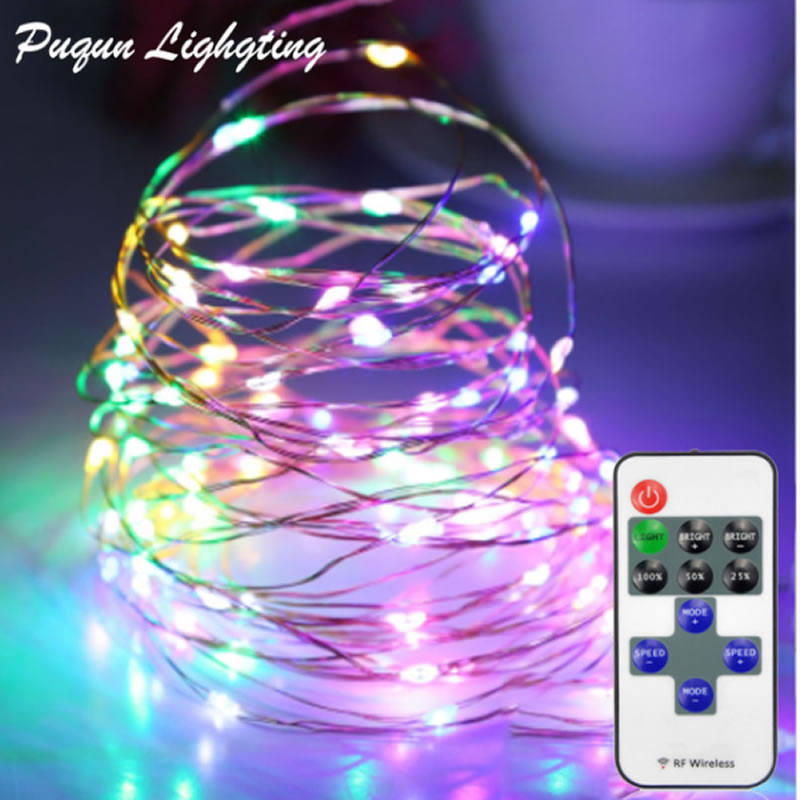 Hoge quanlity draadloze controle LED koperdraad LED String Fairy licht Christmas Wedding Party Decor lichten met Power Adapter