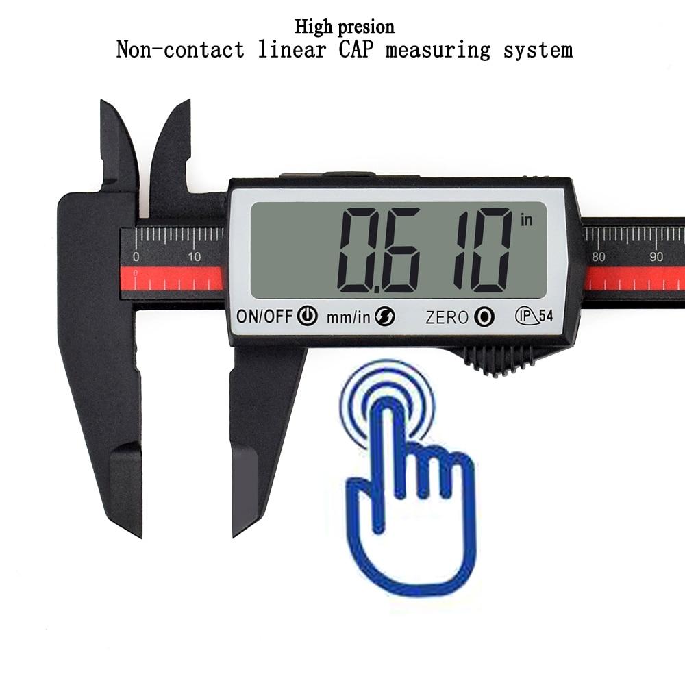 NEWACALOX сенсорный цифровой штангенциркуль из углеродного волокна линейка Экстра большой ЖК-экран дюймов/метрическое преобразование 0-6 дюймо...