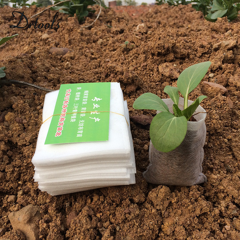 Nursery Pots Seedling-Raising Bags 8*10cm Fabrics Garden Supplies Environmental Protection Full All Size 100pcs-pack Jt021